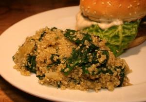 Quinoa-Spinat-Pfanne