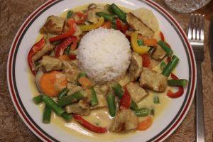 Chicken Curry Masala, indische Gemüsepfanne, vegan