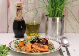 Bulgur mit geröstetem Kürbis, Fenchel und roter Beete