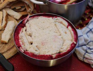 Abdecken mit Brot