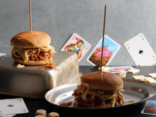Jackfruit Pulled Pork Burger