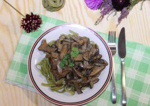 Tagliatelle verde ai Funghi Porcini