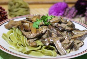 Tagliatelle verde ai Funghi Porcini - Nudeln mit Steinpilzen
