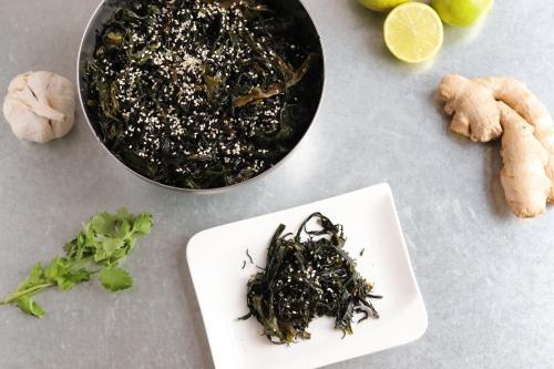 Japanischer Wakame Algensalat