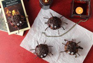 Halloween Muffin Spinnen