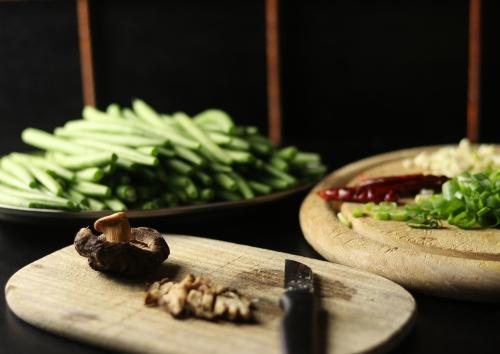 Zubereitung der Bohnen