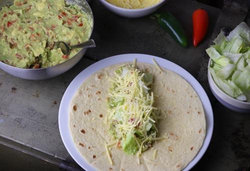 Belegen der Burritos