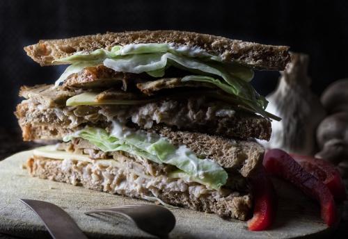 Auf dem Sandwich
