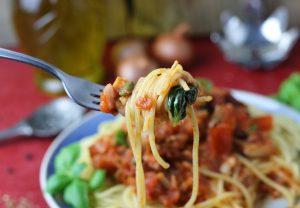 Spaghetti al Tonno - veganisiert mit Jackfruit