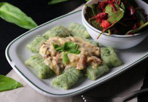Lecker mit kanckigem Salat
