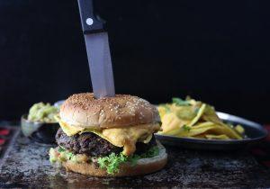 Text-Mex Nacho-Burger