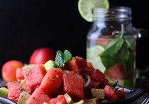 Veta-Wassermelonensalat, sommerlich frisch