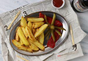 Chips with malt vinegar