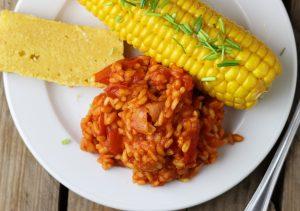 Mit Mais und Cornbread