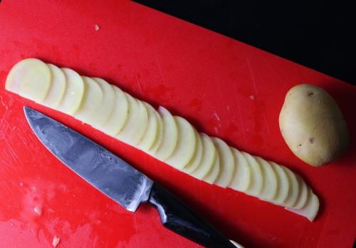 Zubereiten der Kartoffelrosen