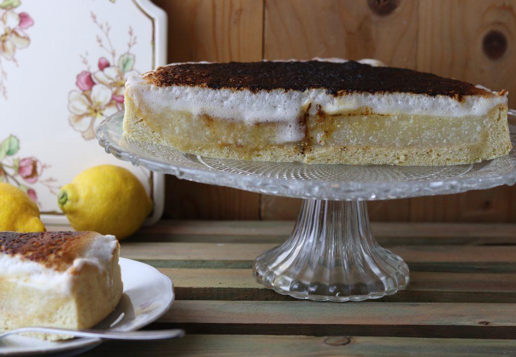 Zitronen Baiser Kuchen Dailyvegan