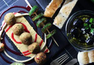 Falafel mit Baba Ganoush Kern
