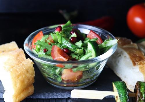 Knackiger Salat, Granatapfeldressing