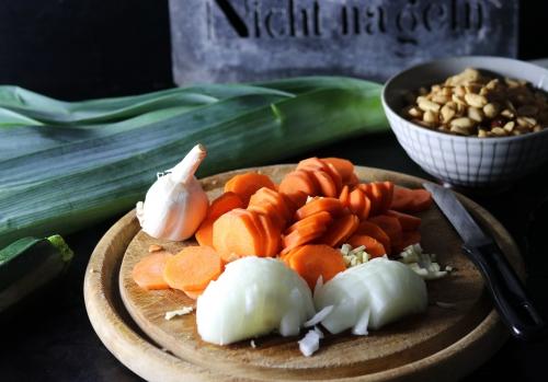Frisches Gemüse für die Suppe