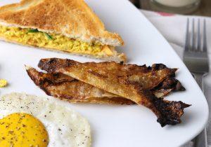 Knuspriger Reispapier Bacon