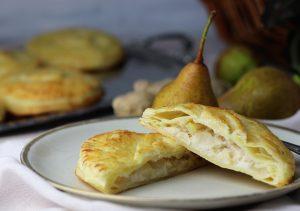 Feine Marzipan-Birnen-Ingwer-Handkuchen