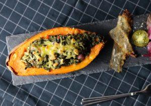 Mit veganem Käse überbacken