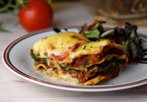 Vegane Lasagne Tricolore