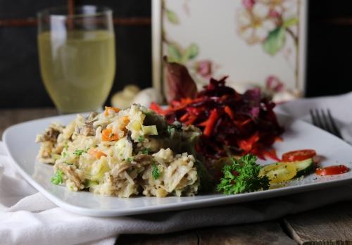Pilz-Reis-Pfanne