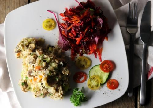 Sehr gut mit Salatbeilage