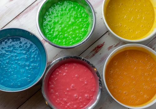 Super mit Lebensmittelfarben