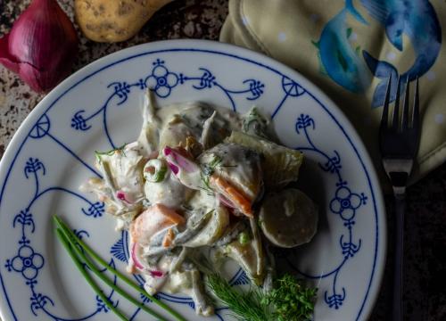 Veganer Kartoffel-Lachs-Salat