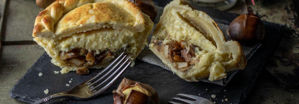 Kräuterseitling-Maronen-Pasteten