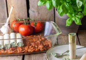 Füllen der Cannelloni