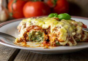 Cannelloni mit Ricotta-Füllung und Bolognese-Sauce