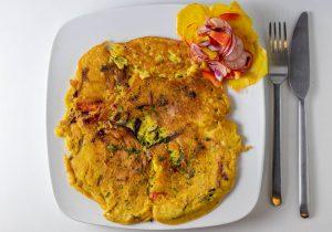 Omelette - knusprig, fluffig, echt, vegan