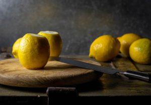 Frische Bio-Zitronen