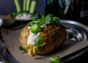 Ofenkartoffeln, schön geröstet