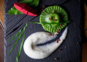 Bärlauch Ravioli mit Cashew-Trüffel Füllung