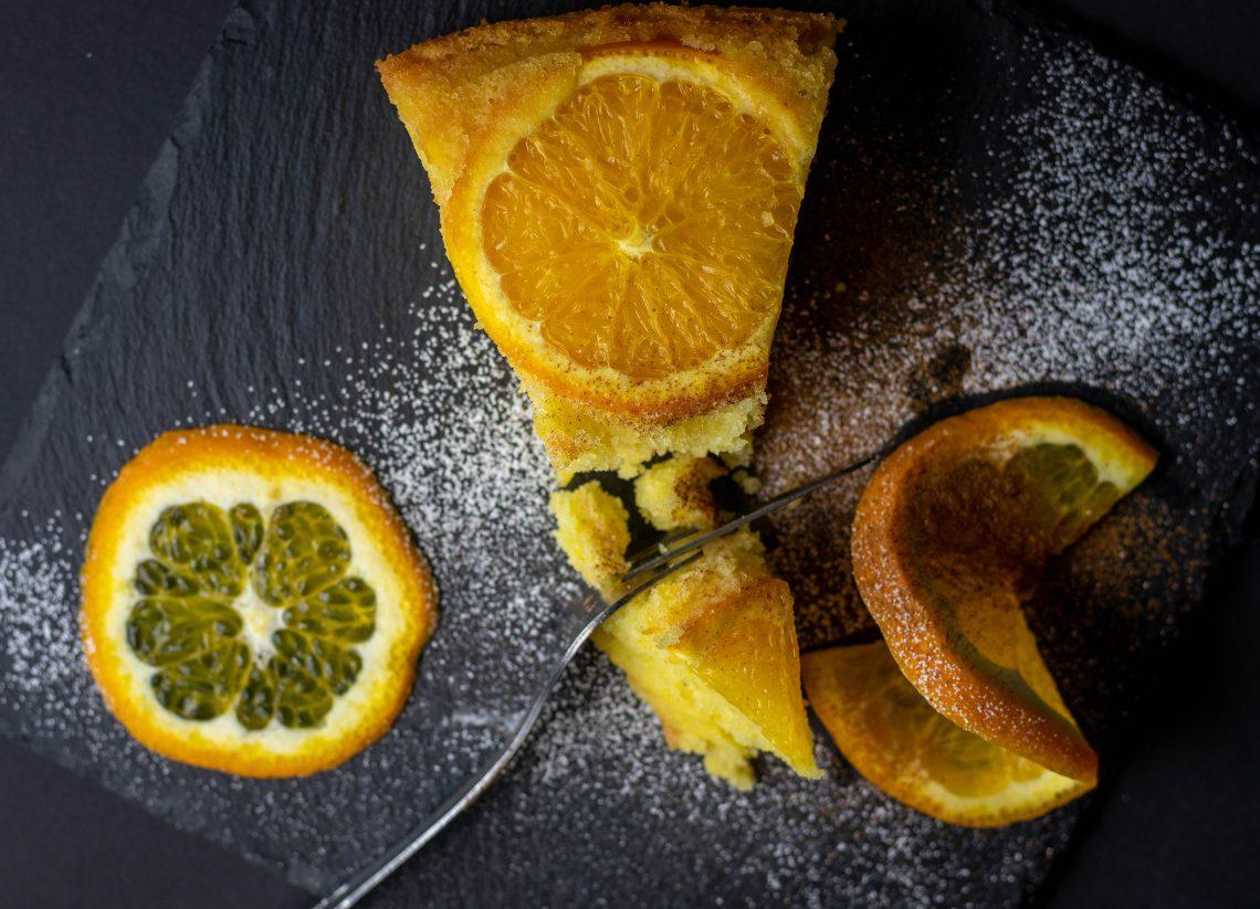 Beschwipster Überkopf-Orangenkuchen