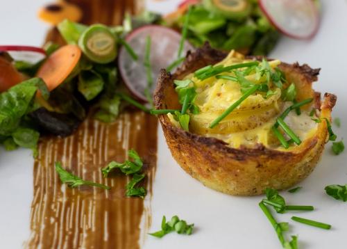 In knackiger Kartoffelpufferkruste