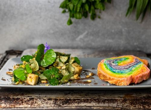 Buchenkeimlinge als Salat
