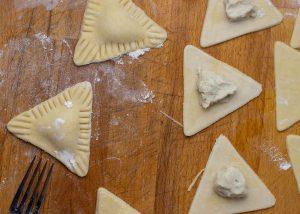 Zubereitung der Ravioli