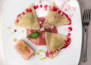 Süße Cashewkäsekuchen Ravioli