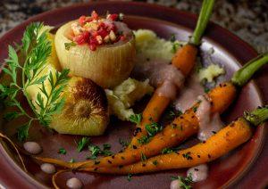 Ein köstliches Herbstgericht aus regionalem Gemüse