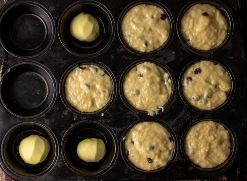 Füllen der Muffinform
