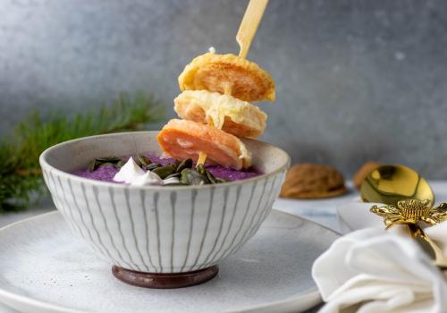 Japanische Tempura aus Süßkartoffeln