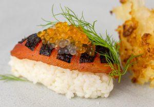Köstlicher Ingwer- und Meereskaviar