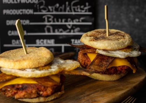 Breakfast Burger - vegane Frühstücksburger