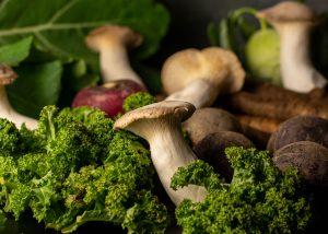 Leckere Wintergemüse und Pilze