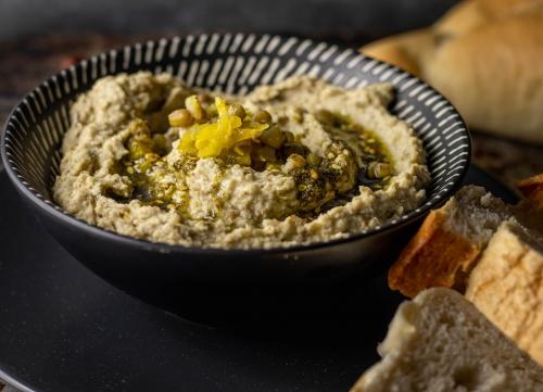 Als Topping Zatar in Olivenöl